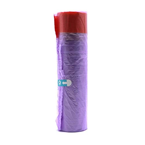 Kitchen drawstring garbage bag, Hand-held Thicker Seal Tie Elastic Durable Garbage Bags,Disposable Garbage Bag For Home Color Kitchen(Purple)