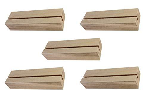 BO-LIFE 5 Stück Fotohalter/Kartenhalter aus Holz sind funktional. Die Tischkartenhalter sind dekorativ und stehen sicher.