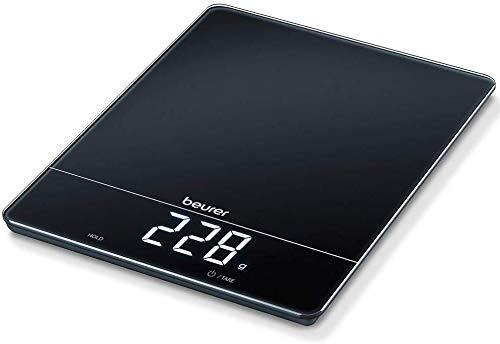 Beurer KS 34 Balance de Cuisine, pour peser avec précision jusqu'à 15 kg, avec fonction tare et affichage à LED Magic