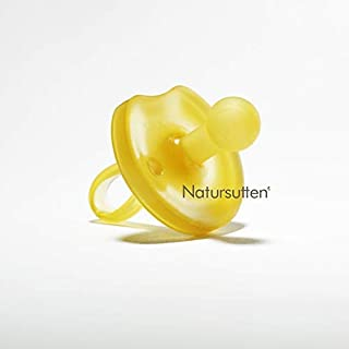 Natursutten Medium 6-12 mo, Natural Rubber Pacifier, Butterfly Shield, Rounded Nipple