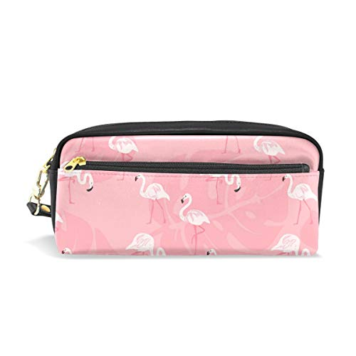 Chic Houses Cute Flamingo Cosmetic Bag Stationery Pencil Pouch Cartoon Pattern Wash Pouch Travelling Portable for Student and Women 2030004