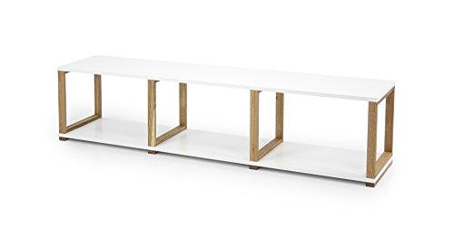 Tenzo 2331-001 Art Designer Regal / Raumteiler, 42 x 178 x 36 cm, weiß / eiche