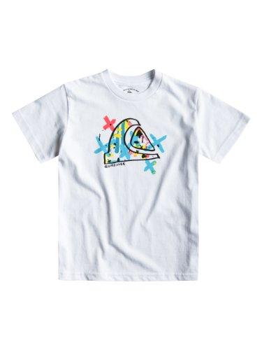 Quiksilver T-Shirt Short Sleeve Basic tee Boy R22 - Camiseta, Color Blanco, Talla DE: 4 Jahre
