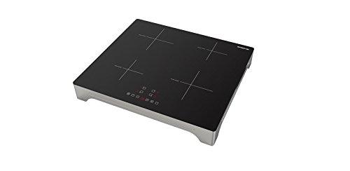 Inventum vki6010zil tavolo–Placca, Tavolo, Placca di induzione, Vetro e ceramica, Nero, 1500W, 14cm