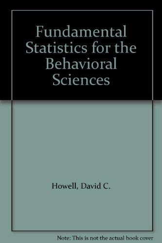 FUND STATS FOR THE BEHAVIORAL SCIENCES