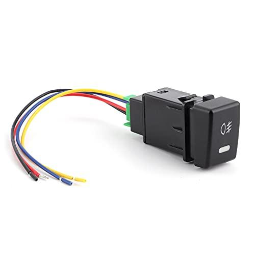 Qiilu Botón de Interruptor de Luz Antiniebla Delantera con Cable de Conexión Apto para ISUZU MU-X/D-MAX