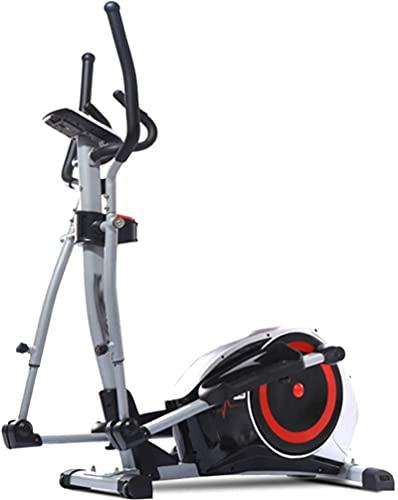 Attrezzatura Home Gym Cross trainer ellittico professionale, Cardio Home Office Fitness Workout Machine con 8 livelli di resistenza con sistema frenante silenzioso Peso massimo utente 150 Kg Multifunz
