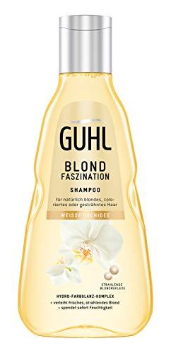 Guhl Blond Faszination Shampoo - mit weißer Orchidee - Glanz für ein natürliches oder coloriertes Blond, 250 ml
