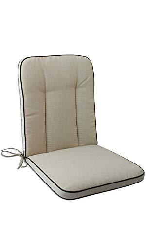 OUTLIV. Polsterauflage MBM Romeo/Rosanna Gartenstuhl Niederlehnerauflage 90x40 cm Sitz- Rückenkissen Beige Sitzauflage Gartensessel