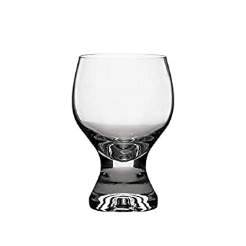 Crystalex 230101-01A 7.8-Ounce Crystal Gina Wine Glass Classic Old Fashion Design Red White Wine Crystal Glasses on Short Stem Set of 6