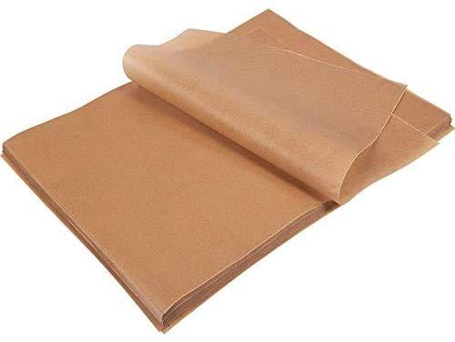 SKEMIX 100pcs Unbleached Parchment Paper, Precut Baking Liners Sheets Paper, 12'' x 16'', Non-stick, Water Proof, Oil Proof, Heat resistant, for Baking, Cooking, Air Fryers, Oven, Steam, Pans