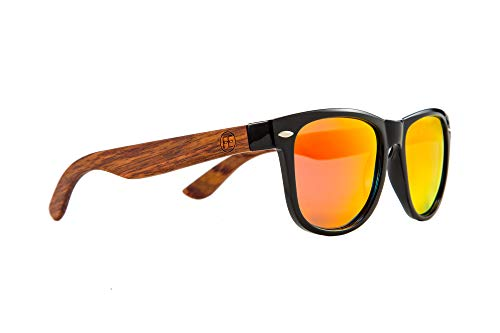 FEISEDY Men Polarized Wood Sunglasses HD UV400 Driving Fishing Golf Sunglasses B2448