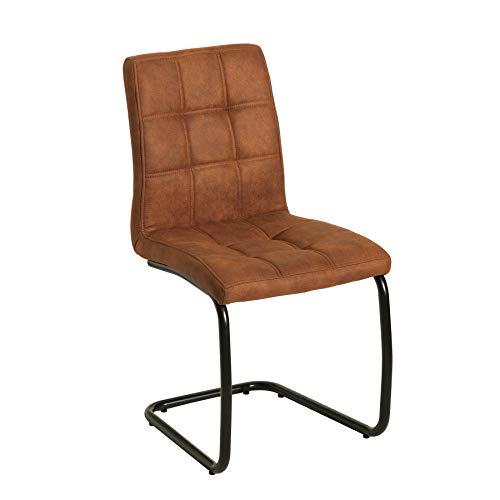 Riess Ambiente Moderner Freischwinger Stuhl Modena Hellbraun Design Steppung Esszimmerstuhl Stuhl