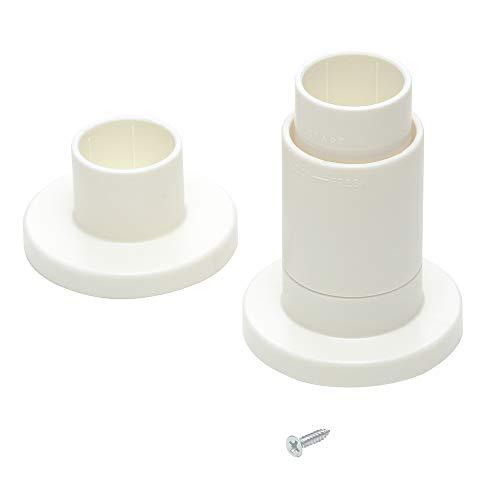 平安伸銅工業 LABRICO DIY収納パーツ アジャスター(突ぱりキャップ) 丸棒直径30mm用 オフホワイト DRO-601