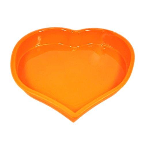 JUNGEN Grande Moule à gâteaux en silicone Cœur Pudding Jelly Moule à chocolat Bakeware outils de cuisson 22 cm*25 cm*4 cm Silicone