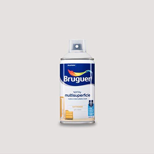 Bruguer Acrylic Multisuperficie Esmalte al agua en Spray Satinado Gris Niebla 300 ml