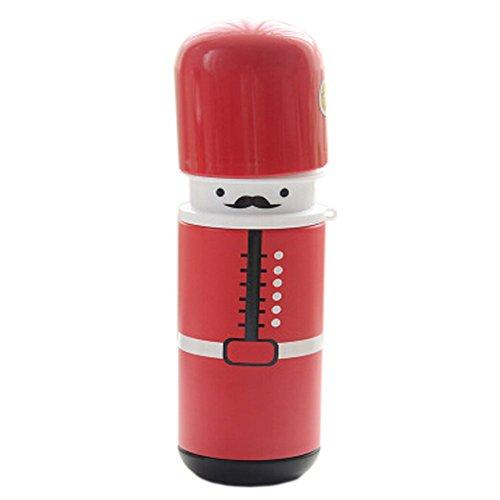 randonnée/marche/camping bouteille sport acier, 280 ml/rouge[joli soldat]