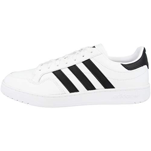 adidas Team Court, Scarpe da Ginnastica Uomo, Ftwr White/Core Black/Ftwr White, 40 EU