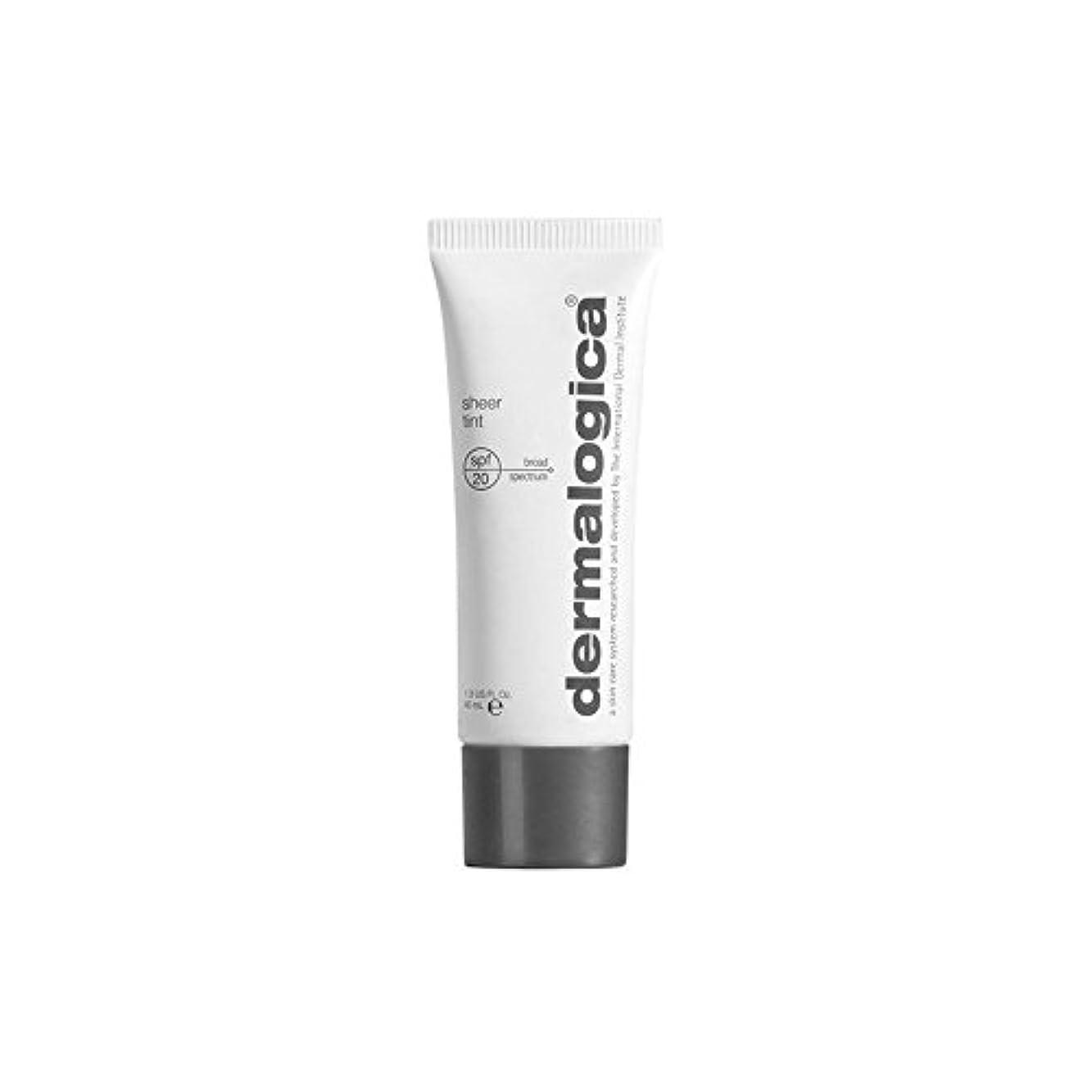 明確な重荷文房具Dermalogica Dark Sheer Tint Moisture (40ml) (Pack of 6) - ダーマロジカ暗い色合い薄手の水分(40ミリリットル) x6 [並行輸入品]