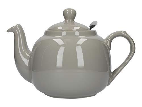 London Pottery Théière 2 Tasses avec Filtre Vert, Céramique, Gris, 4 Cup