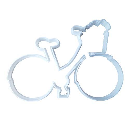 Taglierina per biscotti a forma di bicicletta (taglierina per biscotti per veicoli e pasticceria tagliente) – grande