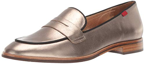 MARC JOSEPH NEW YORK Womens Leather Made in Brazil Bryant Park Loafer, Gipsy Chrome/Black, 6 M US