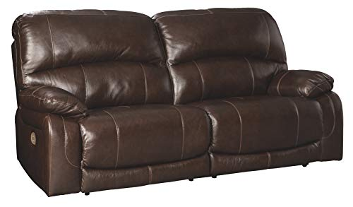 Signature Design by Ashley Hallstrung 2-Seat Reclining Power Sofa Chocolate