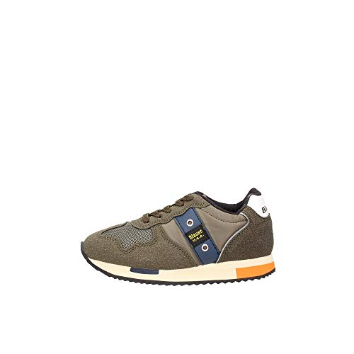 Blauer Z21BU02 - Zapatillas deportivas para Dash de ecosuede/nailon, color azul marino Verde Size: 34 EU