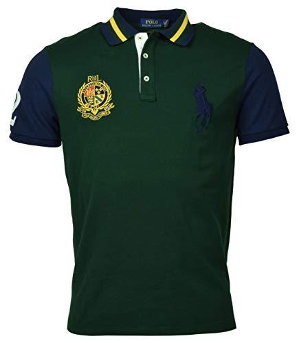 POLO RALPH LAUREN Men's Custom Slim Fit Big Pony Polo Shirt - S - Green