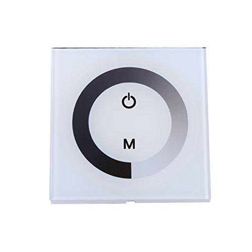 URRNDD Atenuador, Panel táctil Regulador de Interruptor de Pared Controlador Tira de luz LED DC 12V-24V para Tira de luz LED de un Solo Color(Blanco)
