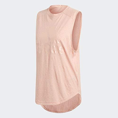 adidas Damen Tank Top W Id Winners MT, Glow pink, XL, DZ8662