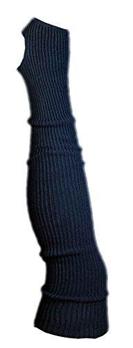 AVIDESO Stulpen Damen Overknee + Fersenloch - Overknees Beinlinge Strick Flauschig Weich Legwarmer Tanzstulpen Mädchen schwarz