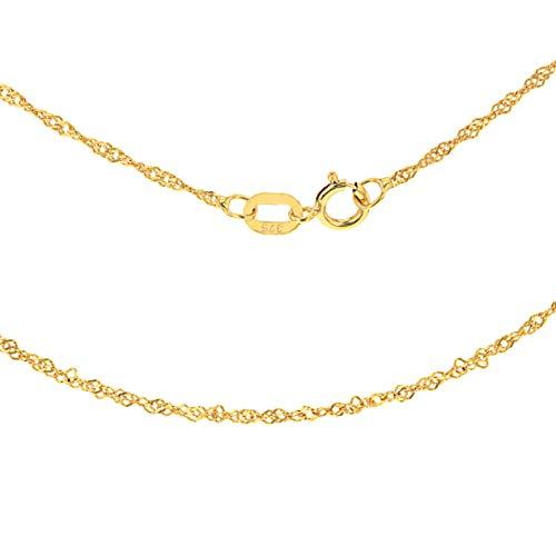 Carissima Gold Damen 9k (375) Gelbgold 1.2mm Diamantschliff Twist Panzerkette 1.13.0464 46cm/18zoll