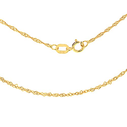 Carissima Gold Women's 9 ct Yellow Gold 1.2 mm Diamond Cut Twist Curb Chain Necklace of Length 61 cm/24 Inch