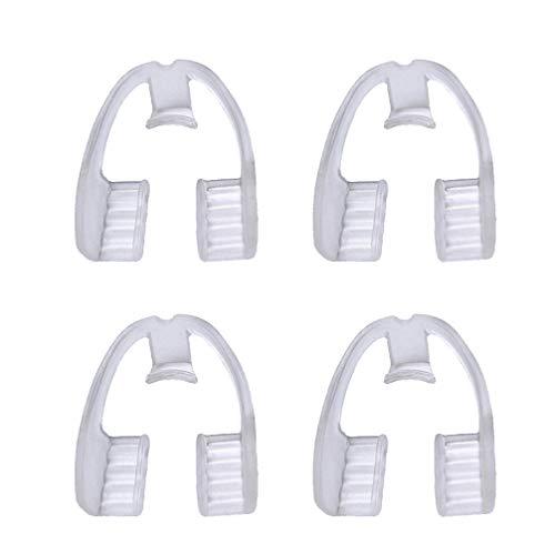 BESPORTBLE 4Pcs Zähne Knirschen Mundschutz Eliminiert Knirschende Zahnschutz Nachtwächter Stoppt Bruxismus Tmj für Erwachsene Männer Frauen Schlafen