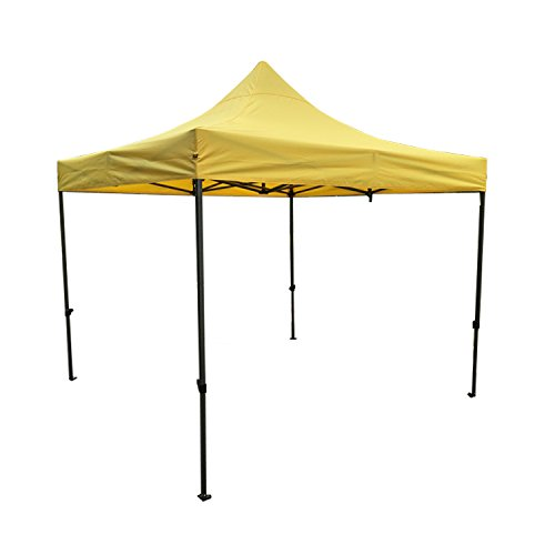 AAA Best K-Strong Outdoor Pop Up Canopy Tent 10' x 10', Portable Instant Canopy Shelter (Yellow)