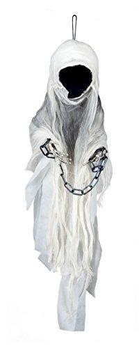 Boland- Decorazione Spettro Faceless Ghost, Bianco, 100 cm, 74551