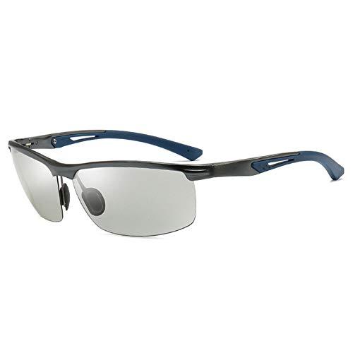 LXC Men ' S Sonnenbrillen, New Men ' S Automatik Photochromic polarisierte Aluminium-Magnesium-Sonnenbrille Outdoor Sports Cycling Sonnenbrille,b