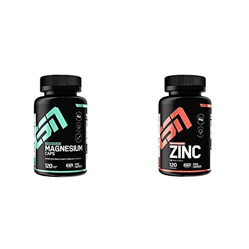 ESN Magnesium, 120 Kapseln & Zinc, Pro Series, 120 Kapseln, 1er Pack (1 x 90 g)