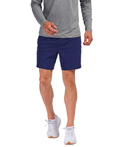 Rhone 7' Versatility Short Unlined Navy Large Quick-Drying Stretch Athletic Workout Performance Training Shorts