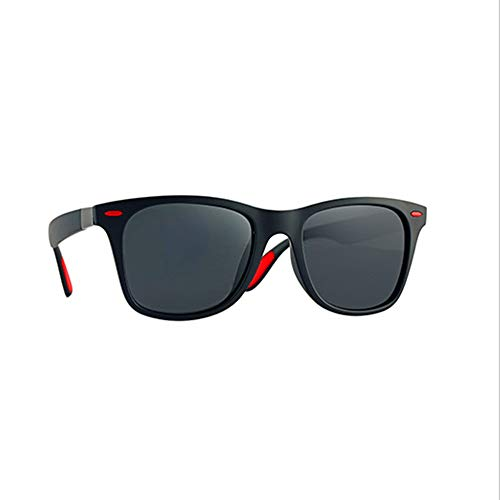 Gafas de sol polarizadas Hombre Mujer/Deportes Gafas reflectantes con verano Deportes al aire libre Conducción Pesca Montañismo Gafas de sol Hombres (Color Gris Negro)