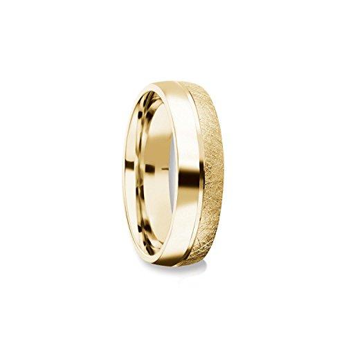 Herrenring Gold (Silber 925 hochwertig vergoldet) Ehering Trauring Hochzeitsring Herren flach Verlobung Verlobungsring Herren Herr Freundschaftsring modern schlicht FF384 VGGG60