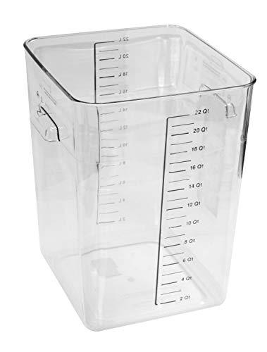 Rubbermaid Commercial contenedor Ahorra Espacio, Solo contenedor, Transparente
