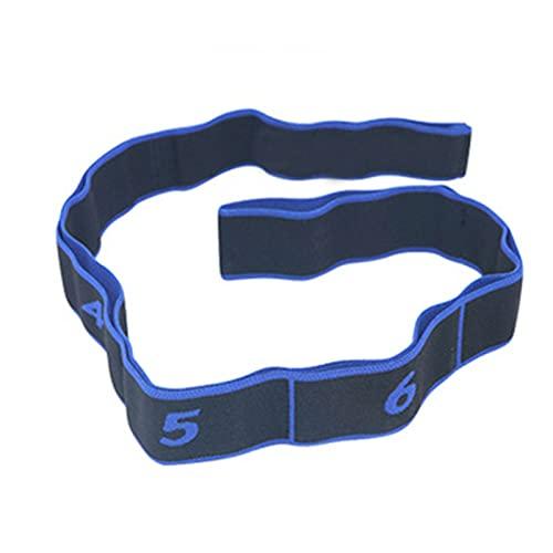 FGJH Yoga tirón Correa cinturón de cinturón Bandas de Resistencia al látex elástico Estiramiento Aptitud Gimnasia Entrenamiento Bandas Pilates Home Gym Equipment 0429 (Color : Blue)