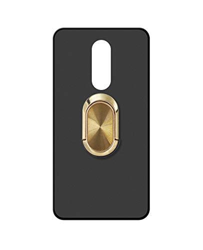 Sunrive Cover per Meizu M8, Custodia in Molle Matte Silicone Morbida Protector Back Case Girevole a 360 Gradi Protettiva Kickstand(A4 d'oro)
