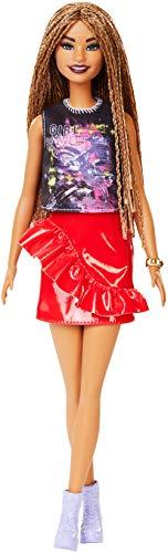 Barbie- Fashionista Muñeca morena con cabello trenzado y