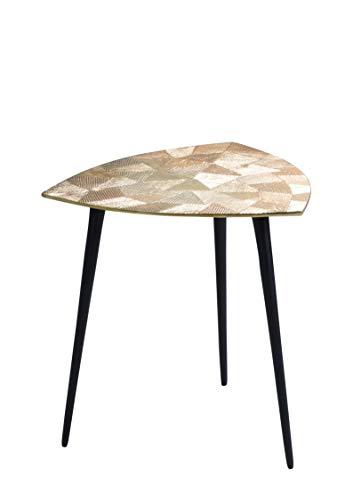 HomeTrends4You Singh 1 salontafel/bijzettafel/tafelset, metaal, goud, diameter, hoogte 40 cm