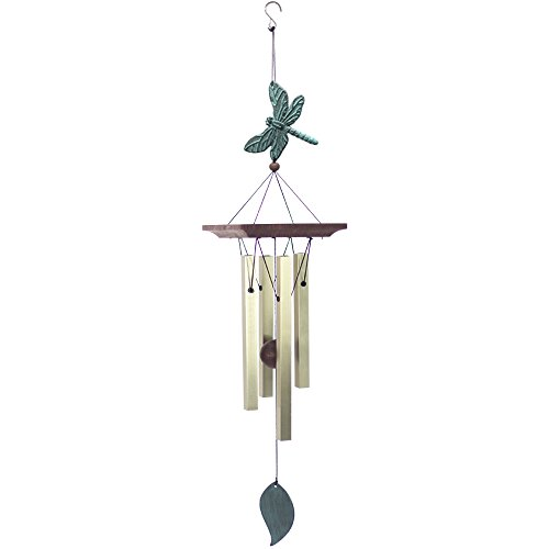 ASTARIN Dragonfly Wind Chimes Outdoor, Melody Wind Chimes Garden,Small Memorial Wind Chimes with 4 Square Metal Tubes for Patio Home Yard Housewarming Hanging Decor,Christmas,Bird Collection