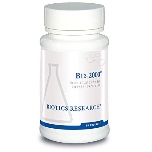 Biotics Research B12 Lozenges- Vitamin B6 & B12 2000 Lozenges with Folate - 60 Lozenges