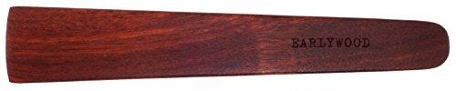 9.5 in Handmade Kitchen Cooking Utensil, Thin Dark Wood Saute Spatula, Multipurpose Flat Wooden Spatula, Perfect for flipping, scraping, sauteing, turning - Wooden Cooking Utensils - Made in USA - B